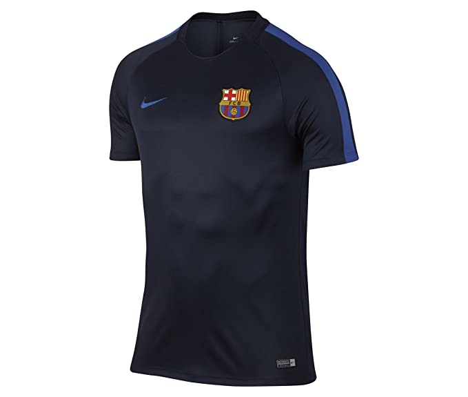 NIKE FC Barcelona Dry Squad Men s Soccer TOP at Amazon Men s Clothing store  c0d325cb6