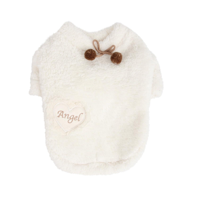 Large Puppia Cozy Heart Shirt, Large, Ivory