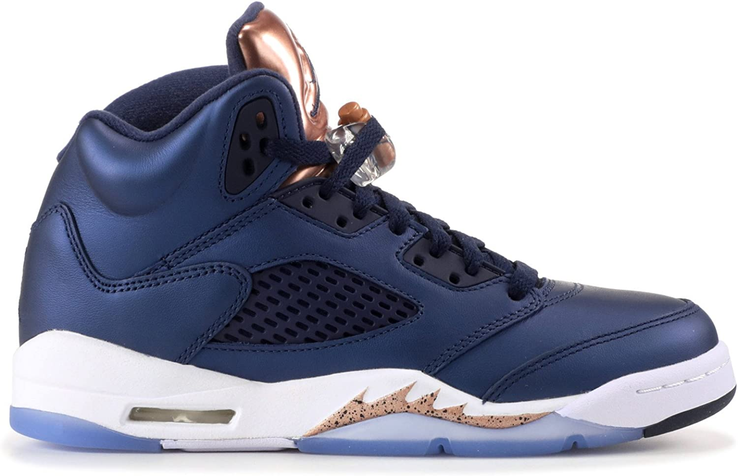 NIKE Boys Jordan 5 Retro BP Bronze Medal Obsidian//White-Bronze Leather Size 3.5Y