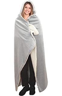 Soft /& Cozy Women/'s Stylish Hooded Angel Wrap with Pockets Gray One Size HSN