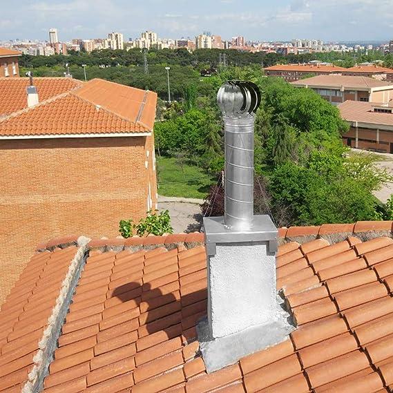 PrimeMatik - Sombrero Extractor de Humos galvanizado Giratorio para Tubo de 250 mm de diámetro: Amazon.es: Electrónica