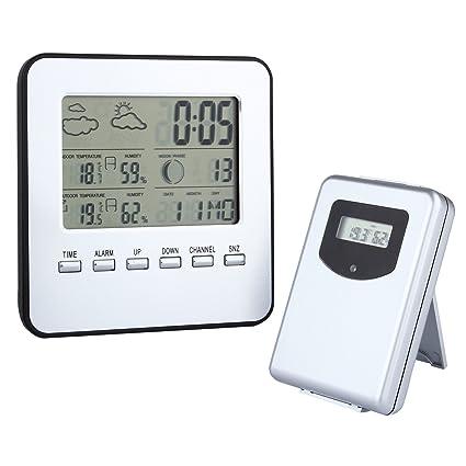 Estación meteorológica Discoball, calendario termómetro calendario, reloj digital