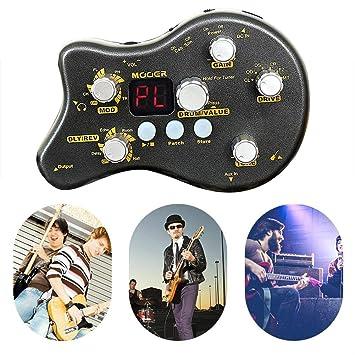 Mini Guitarra eléctrica integrada de efectos, 15 tipos Efectos ...