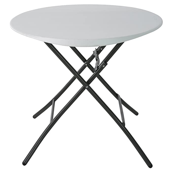 Jardin Mobilier de jardin Lifetime Table ronde pliante Blanc ...