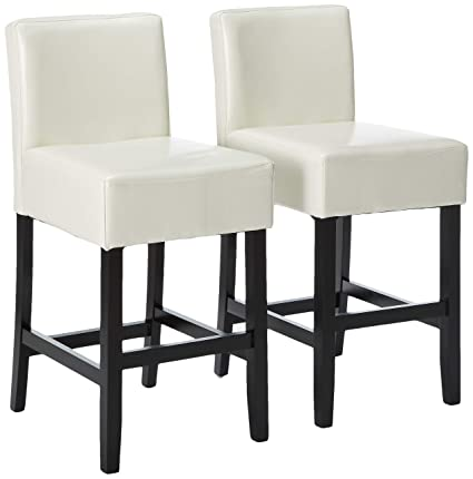 Amazon.com: Christopher Knight Home Lowry 237522 Ivory Bonded Leather  Counter Stools (Set Of 2),: Home U0026 Kitchen