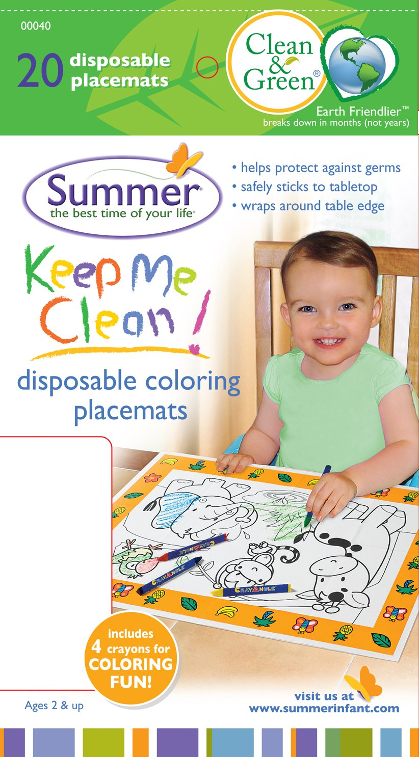 Summer Infant Clean and Green Disposable Placemats   B0040JGGG4