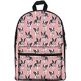 44b78483921d Amazon.com | Showudesigns Boston Terrier Print Backpack for Kids ...