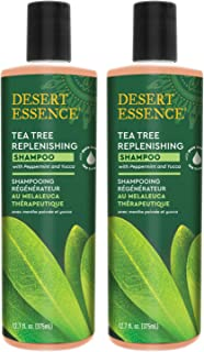 product image for Desert Essence Tea Tree Replenishing Shampoo - 12.7 Fl Oz - Pack of 2 - Therapeutic - Peppermint & Yucca - Antibacterial - Restore & Nurture Hair - Reduce Flaking - All Skin Types