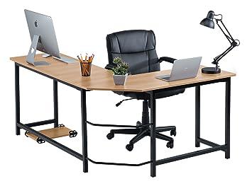 Amazoncom Fineboard Stylish L Shaped Office Computer Corner Desk