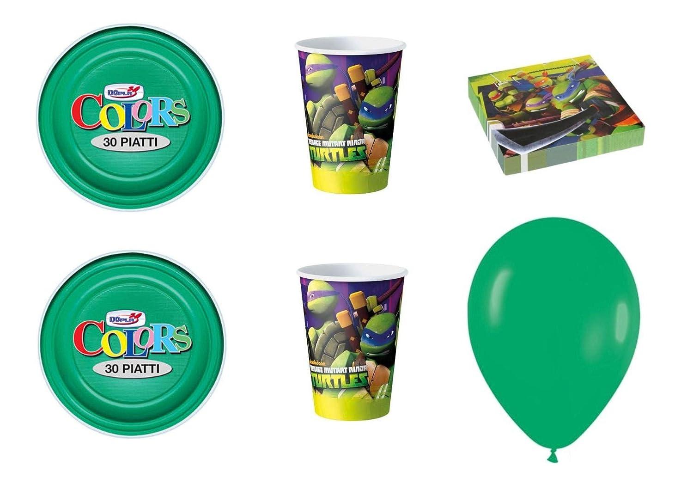 CDC - Kit N ° 7 Día y Party Tortugas Ninja- (8 platos, 8 ...