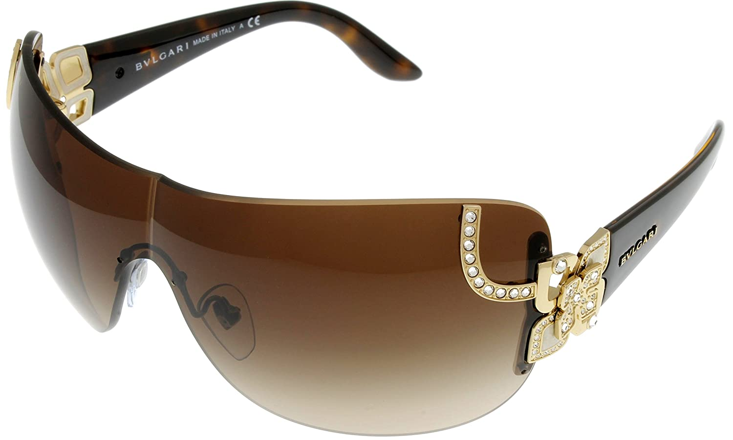 Bvlgari Sunglasses Rimless Women Brown Sheild BV6079B 278/13