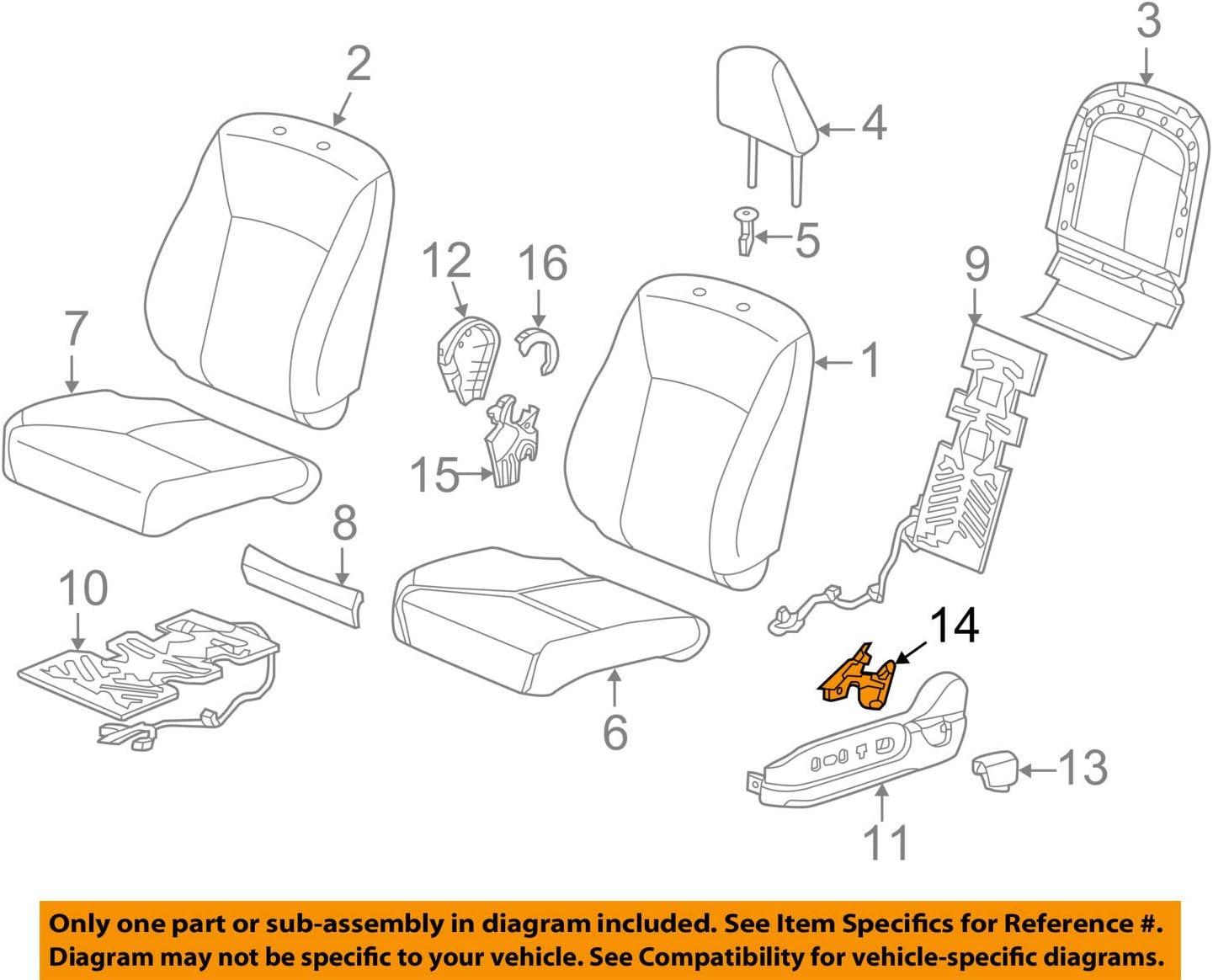 Honda Genuine 81121-S5D-A61ZA Seat Back Trim Cover Right Front