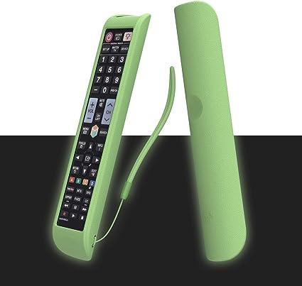 SIKAI CASE Glow in Dark - Funda Protectora de TV Mando a Distancia Compatible con Samsung AA59-00581A AA59-00582A BN59-01178B, Antideslizante Carcasas, Resistente a los Golpes: Amazon.es: Electrónica