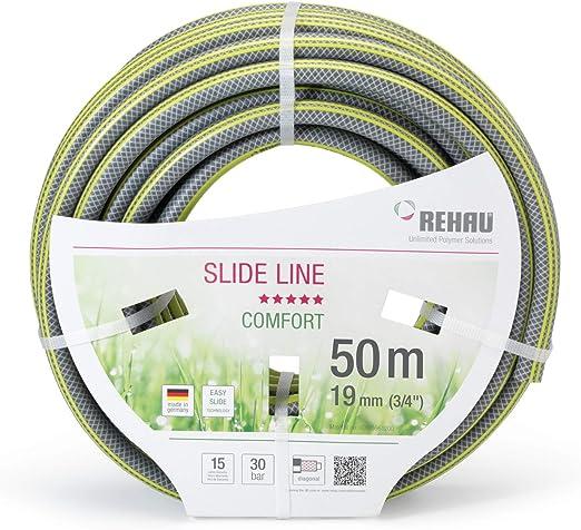 REHAU Comfort Slide Line Zoll 50m Manguera de jardín, Gris/Amarillo, 3/4 Zoll/50 m: Amazon.es: Jardín