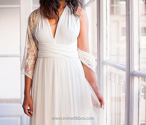 Amazon.com: Lace bridal shawl, rose quartz wedding cover up, lace wedding shrug, rose quartz lace wrap, sheer shawl, wedding dress accessories, ...