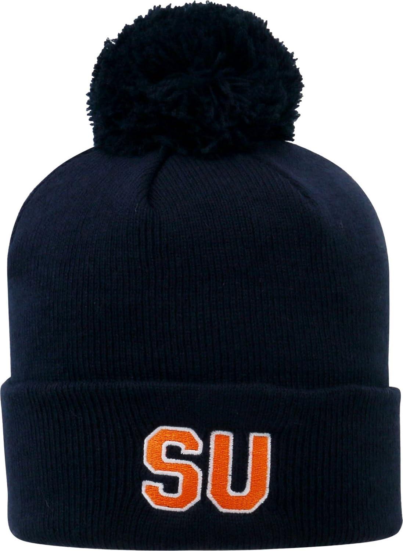 Top of the World Mens Syracuse Orange Orange Pom Knit Beanie OneSize