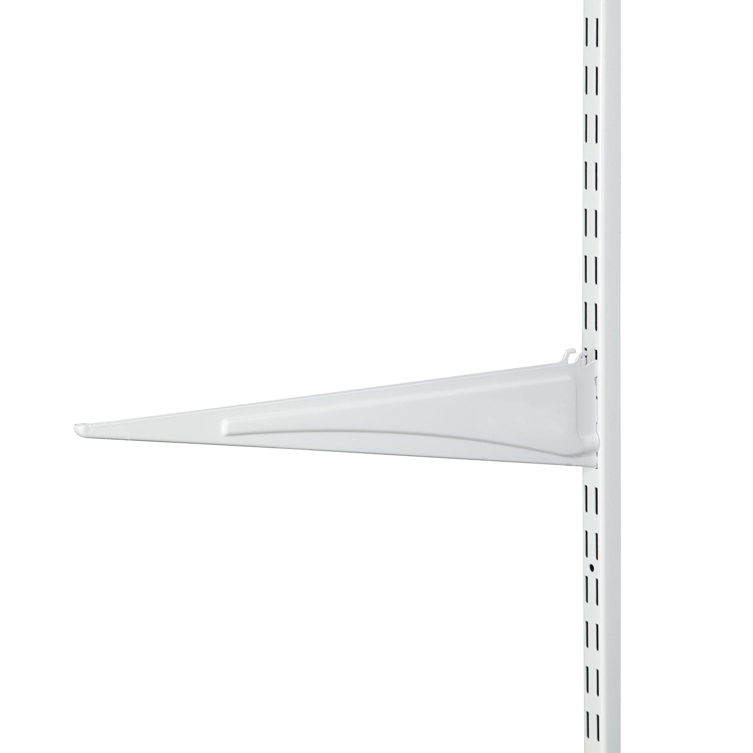 ClosetMaid 2854 ShelfTrack 16-Inch Locking Shelf Bracket, White