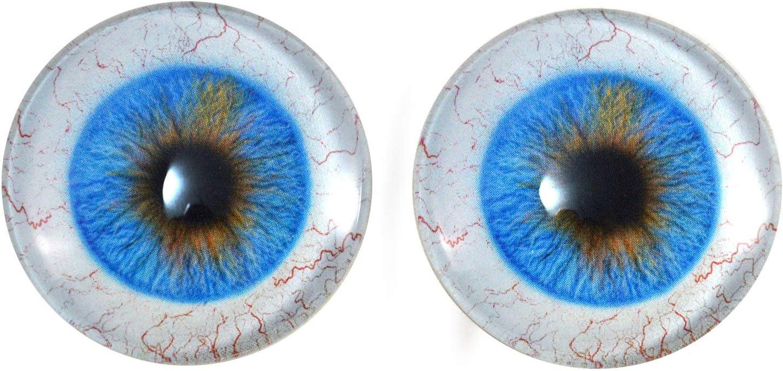 Pink Blue Glass Eyes Realistic Fantasy Taxidermy Eyeballs 16mm