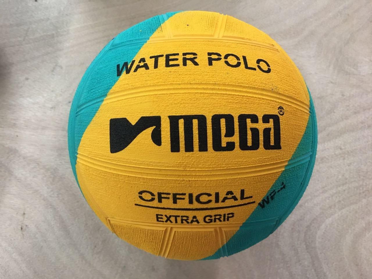Mega Water polo Ball–blu giallo verde taglia 4Swirl design