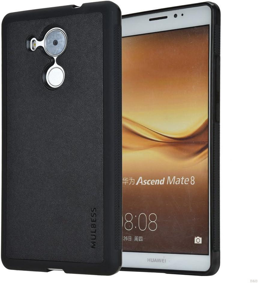 Mulbess Funda Huawei Mate 8 Cuero Silicona TPU Suave Carcasa para ...