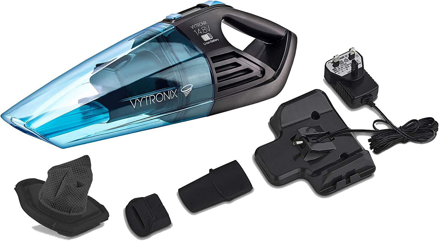 VYTRONIX HWD148 Cordless 14.8V Lithium Handheld Wet & Dry Vac Portable Rechargeable Bagless Vacuum Cleaner