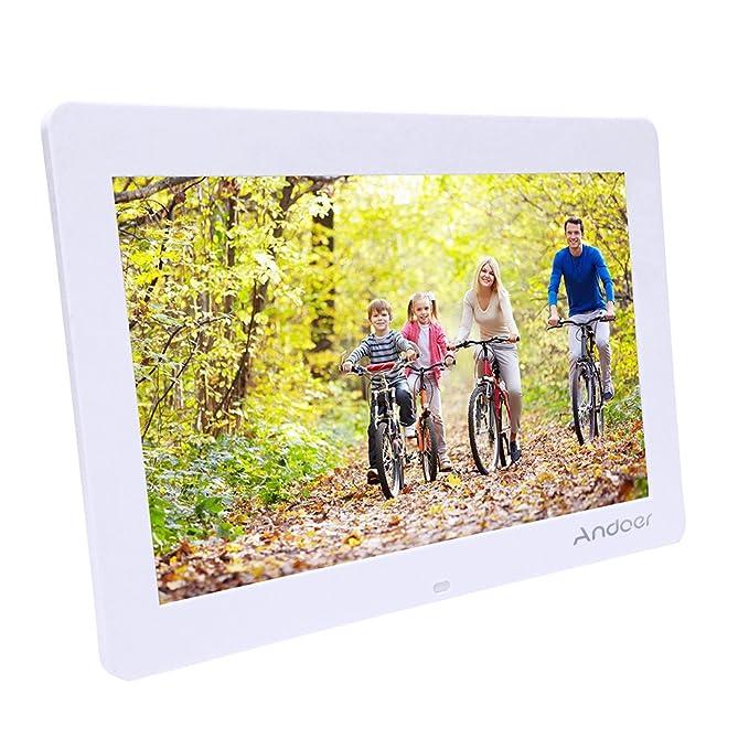Marcos Digitales Andoer14Pulgadas 1280 x 800 HD TFT-LCD Marco de Foto Digital Música (Reproductor MP3 y MP4) / Video/E-Book,Despertador,Calendario,con ...