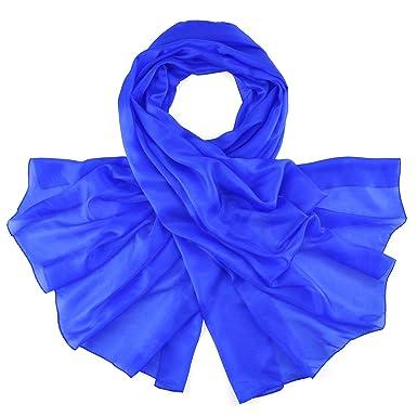 5c9134700d36 Allée du foulard Etole soie bleu roi  Amazon.fr  Vêtements et ...