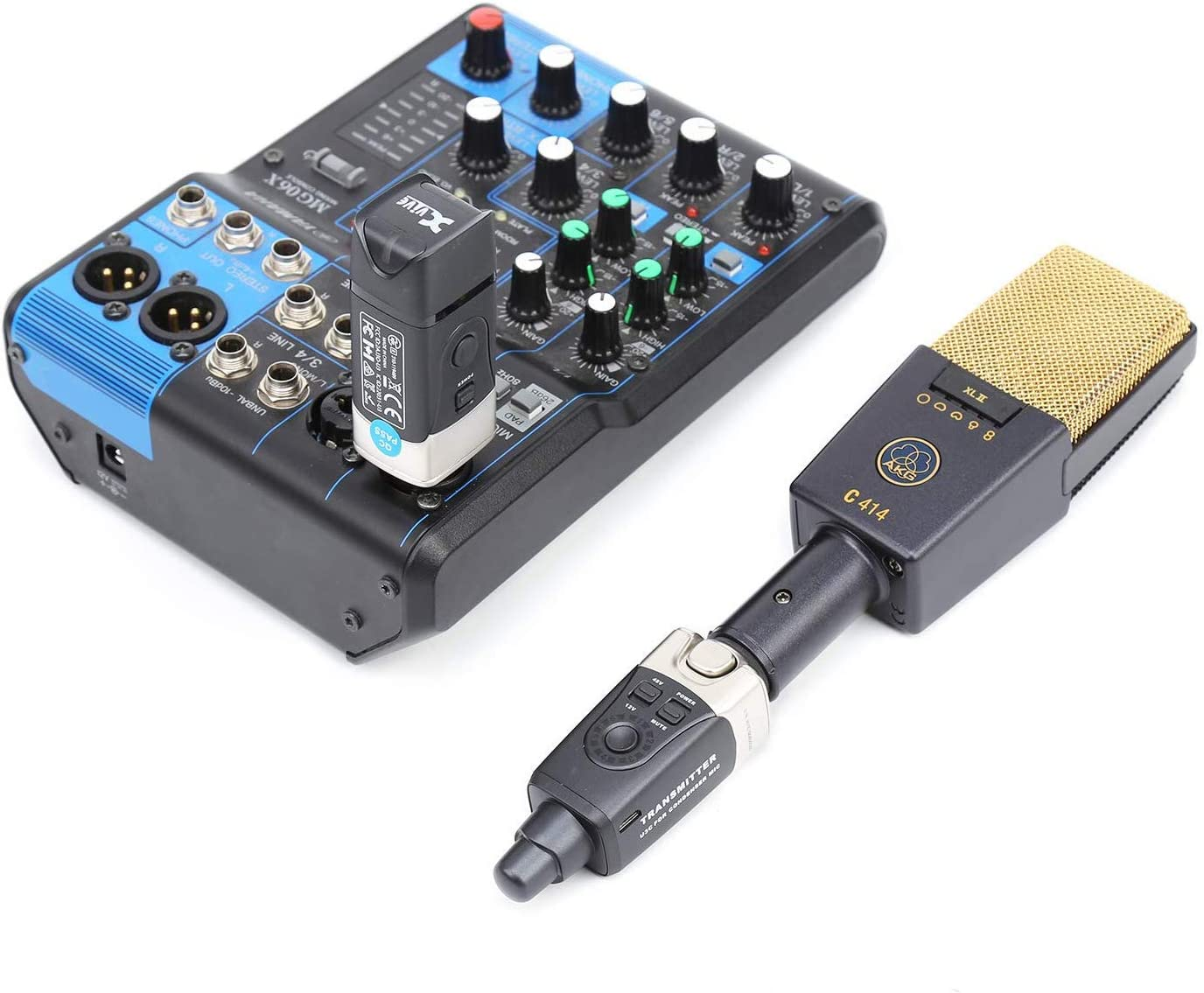 PA System Audio Mixer Xvive U3C Condenser Microphone Wireless System with 2.4GHz XLR Transmitter and Receiver for Microphone A perfect Wireless Microphone System for a Wide Range of Applications