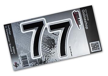 Startnummer Aufkleber 3d 910041 2x Nummer 7 Set Silber Motorrad Auto Fenster Ca 49 X 73 Mm Große Zahlen Exzellenter Wetterschutz Keine