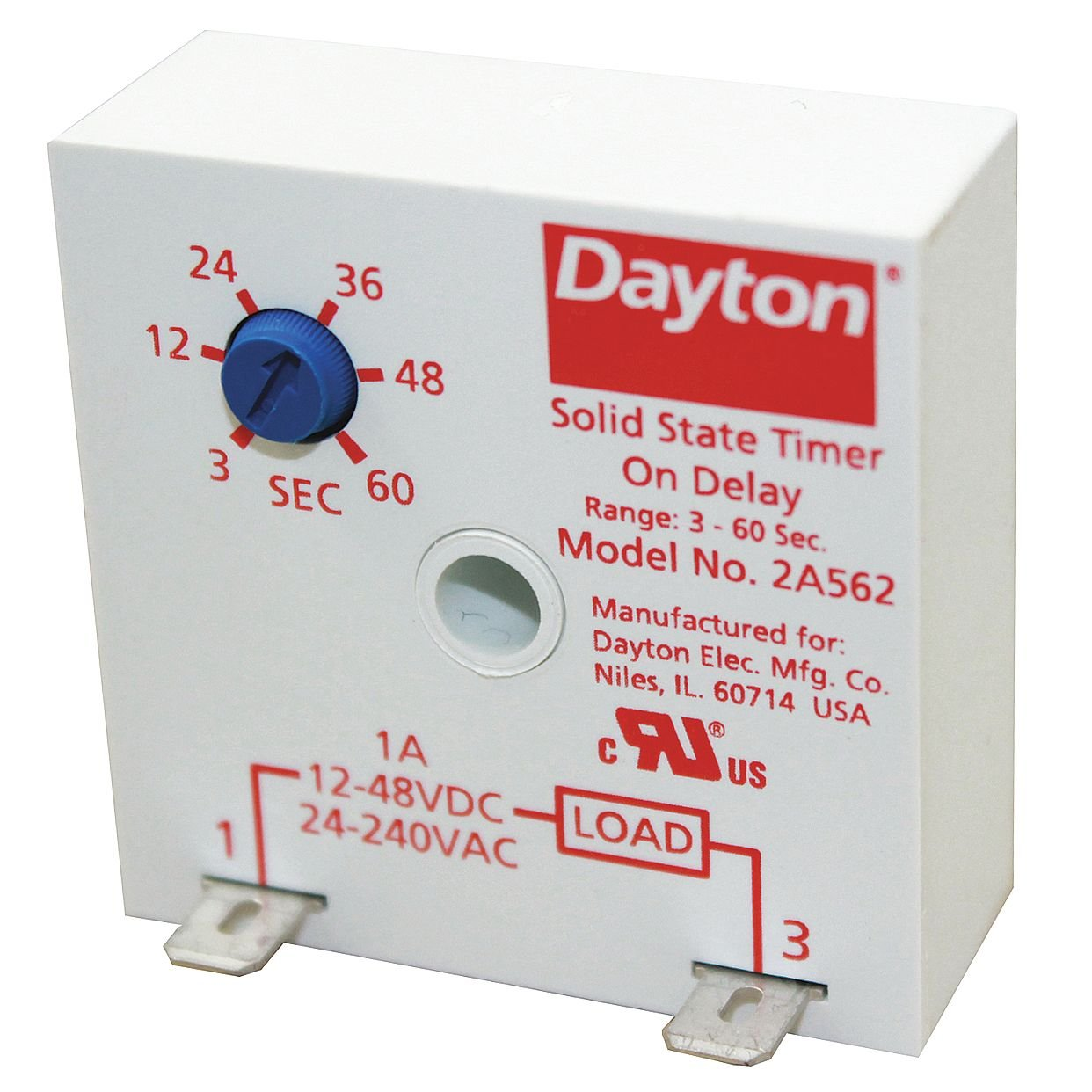 Dayton Encapsulated Timer Relay 1A Solid State