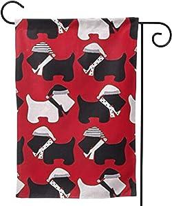 antcreptson Scottie Dogs Red Garden Flag Vertical Yard Outdoor Decoration 12.5 x 18 Inch