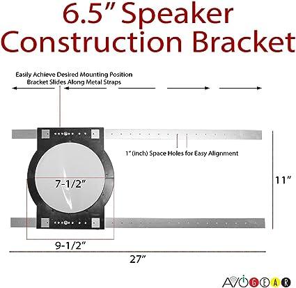 """Pre-Construction Universal Rough-In Bracket Kit for 6.5/"""" In-Ceiling Speaker"""