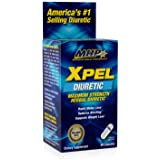 MHP Xpel Maximum Strength Diuretic Water Pills, for Water Retention Relief, Weight loss Support, with Vitamin B-6…
