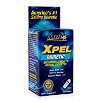 MHP Xpel Maximum Strength Diuretic Water Pills, for Water Retention Relief, Weight...