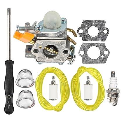 Amazon.com: HIPA carburador con Tune Up Kit para Ryobi 30 cc ...
