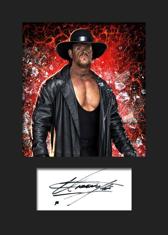 The Undertaker WWE signiertes Foto mit Passepartout A5-Druck #3