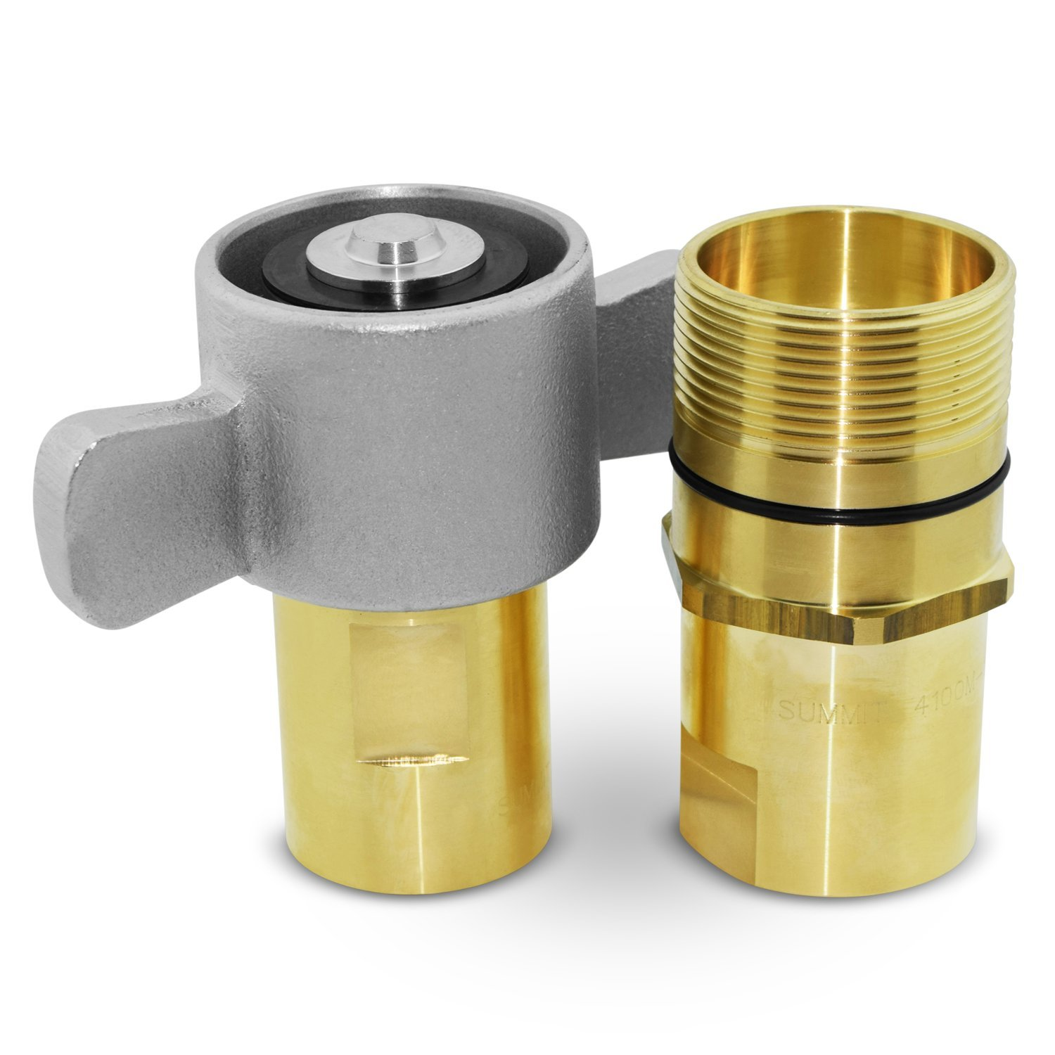 1'' NPT Wet-Line Wing Nut Hydraulic Quick Disconnect Coupler / Coupling Set