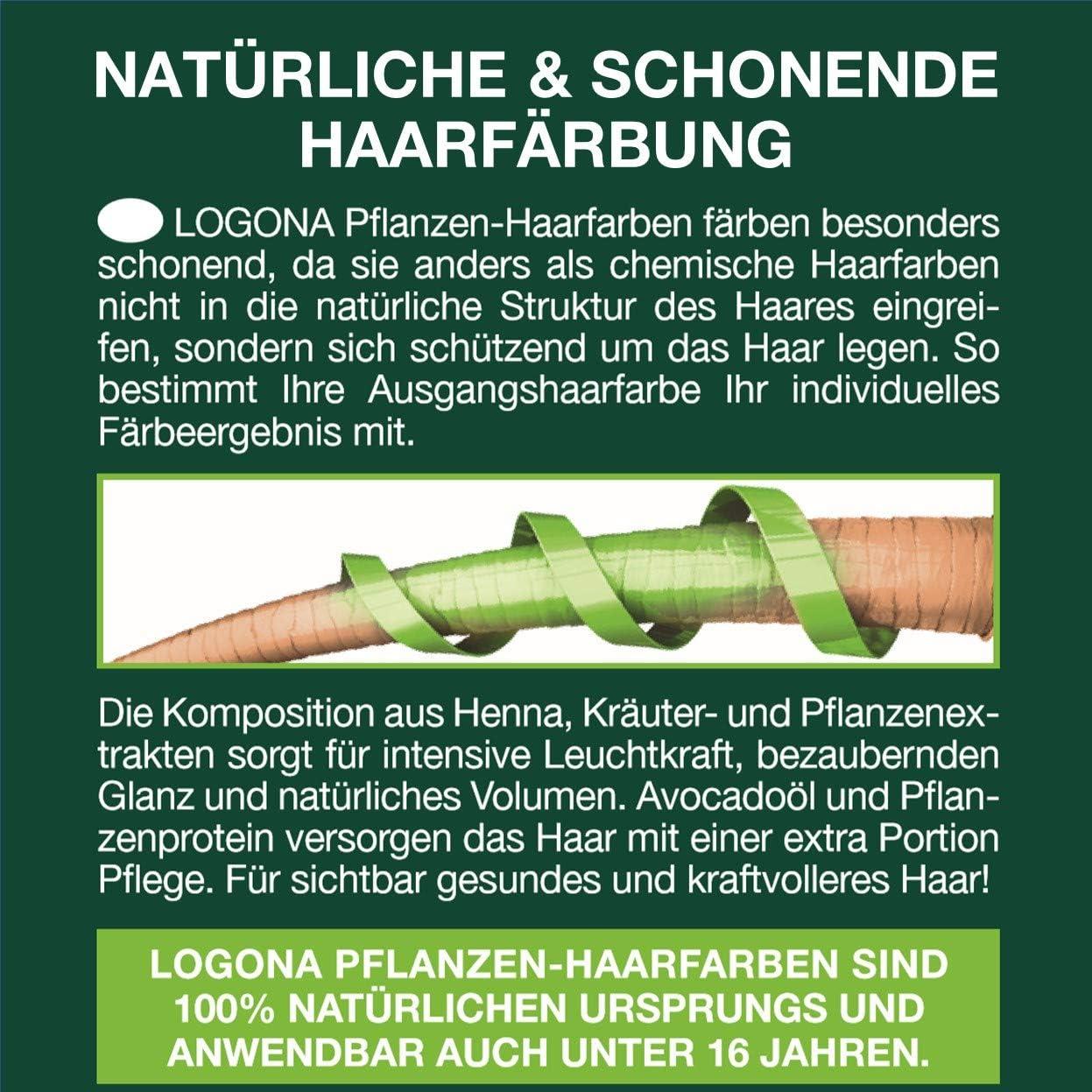 LOGONA Naturkosmetik Plantas Haarfarbe polvo 091 Chocolate, Vegan & Natural, Braune Natur-Haarfarbe con Henna & Shikakai, coloración, 100 g