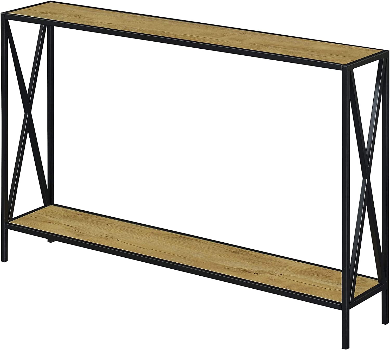 Convenience Concepts Tucson Console Table, English Oak/Black
