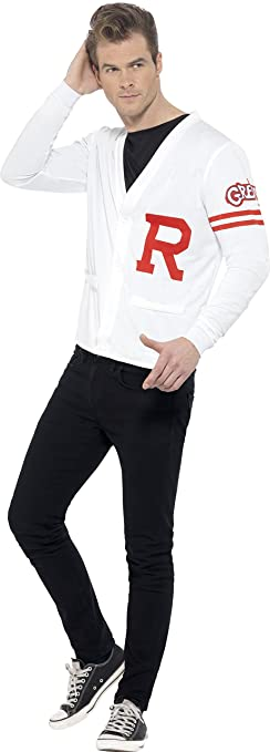 Men's Vintage Sweaters – 1920s to 1960s Retro Jumpers Adults Grease Rydell Prep Costume $20.99 AT vintagedancer.com