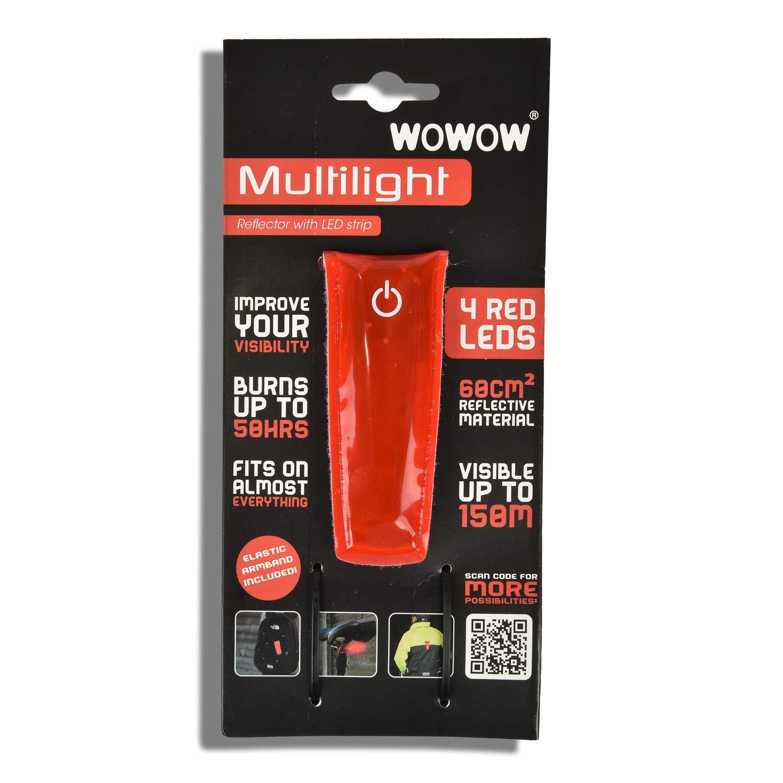 HSM WOWOW Multilight reflektierend Reflektionsband Reflektorband Leuchtband Multifunktionell rot