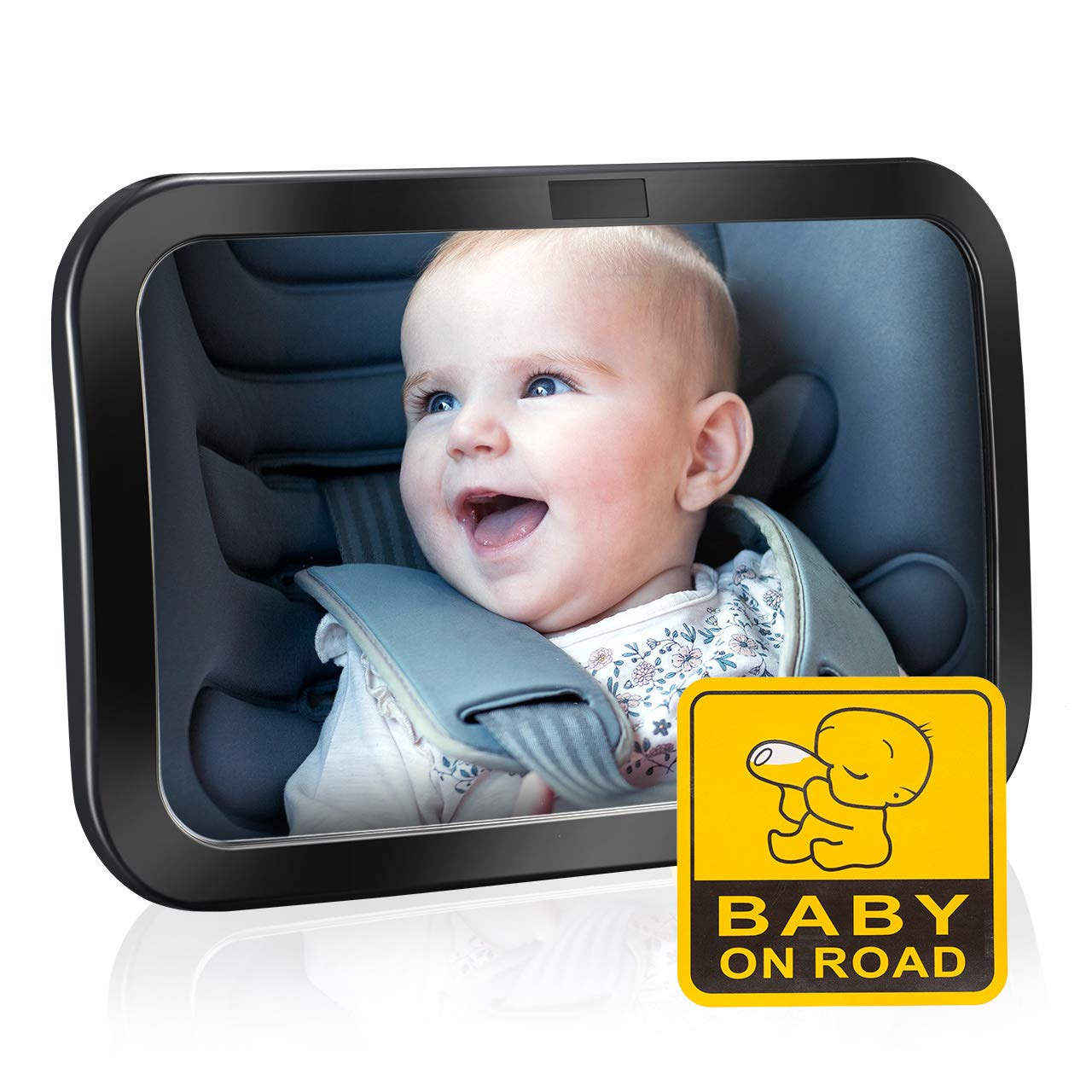 R/ückspiegel Baby Autospiegel Shatterproof Car R/ückspiegel kompatibel mit meisten Auto drehbar doppelriemen 【Update】TOPELEK R/ücksitzspiegel 360/° schwenkbar f/ür Kinderbeobachtung Spiegel Auto Baby