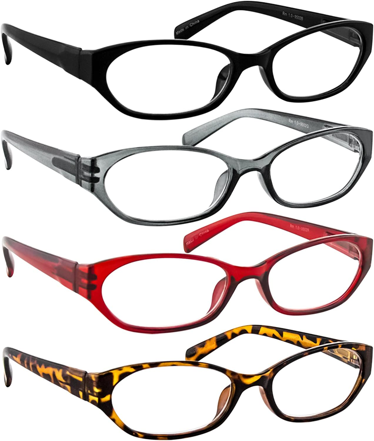 F502 Reading Glasses Women - Spring Hinge and Dura-Tight Screws Multi Colors Options