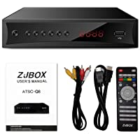 Digital TV Converter Box, ATSC Cabal Box - ZJBOX for Analog HDTV Live1080P with PVR Recording&Playback,HDMI Output,Timer…