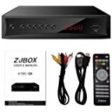 Digital TV Converter Box, ATSC Cabal Box - ZJBOX for Analog HDTV Live1080P with PVR Recording&Playback,HDMI Output,Timer Sett