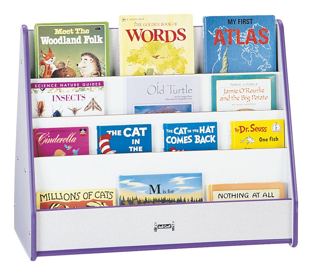 Rainbow Accents 3506JCWW004 Double Sided Pick-A-Book Stand, Purple