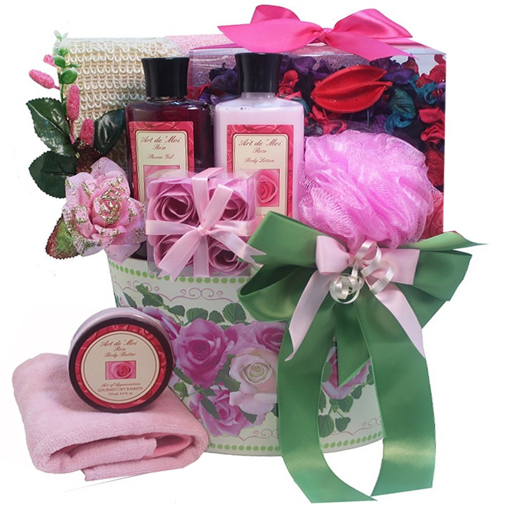 Art of Appreciation Gift Baskets Moms English Rose Garden Spa Bath and Body Gift Set