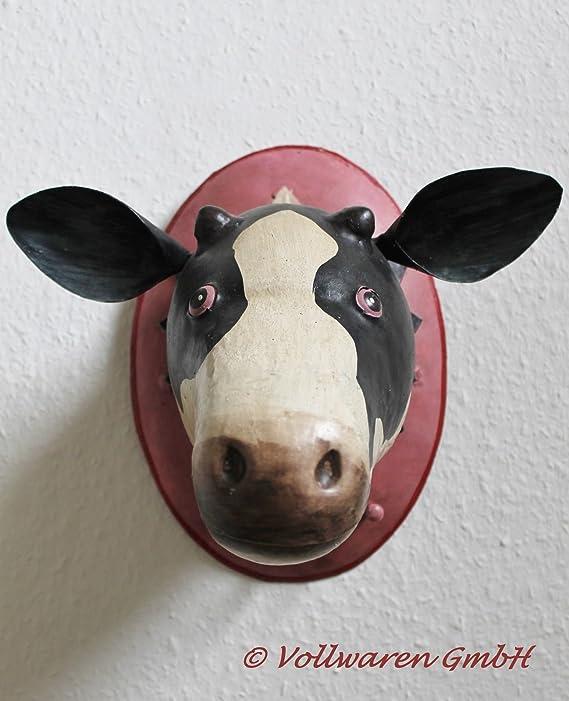 Perchero de pared trofeo vaca artesanía colgadores: Amazon ...