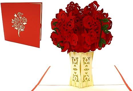 Lin Pop Up Cartes Fleurs De Pop Up Cartes Danniversaire Carte D