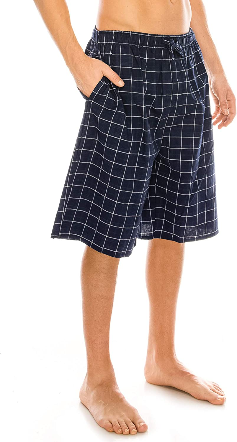 TINFL Cotton Lounge Pants for Men 100/% Soft Cotton Plaid Check Lounger Sleeping Pajama Pants with Pockets and Button Fly